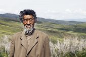 stock photo of mongolian  - Senior Mongolian man - JPG