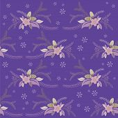 stock photo of adornment  - seamless winter floral flower texture - JPG
