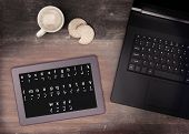 image of impossible  - Braille on a tablet concept of impossibility vintage look - JPG