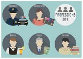 Постер, плакат: Profession People Set 5