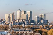 image of canary  - View of Canary Wharf from Greenwich Hill in London - JPG