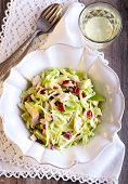 picture of water cabbage  - Cabbage apple cranberry and chicken salad selective focus - JPG