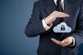 pic of gesture  - Cloud storage security concept - JPG