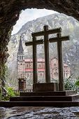 image of battle  - Basilica of Our Lady of Battles Covadonga Asturias Spain - JPG