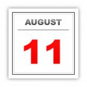 picture of august calendar  - August 11 - JPG