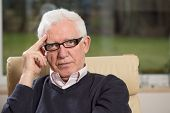image of psychologist  - Portrait of practiced profesional elderly psychologist - JPG