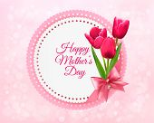 pic of happy day  - Pink tulips with Happy Mother - JPG
