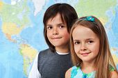 stock photo of geography  - Children in geography class  - JPG