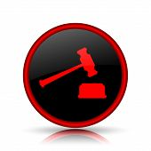 picture of court hammer  - Judge hammer icon - JPG