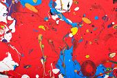 stock photo of acrylic painting  - Abstract acrylic modern painting fragment - JPG