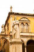 foto of alighieri  - The Dante Alighieri statue in the center of Verona Italy - JPG