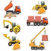 stock photo of bulldozer  - Construction Machines Set 4 - JPG