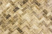 image of bamboo  - Close up old bamboo weave  - JPG