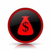 picture of sack dollar  - Dollar sack icon - JPG