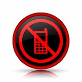 foto of restriction  - Mobile phone restricted icon - JPG
