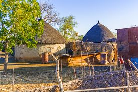 foto of bans  - View at the houses in a small village at the road from Rashid to Ban in Sudan - JPG