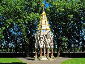 picture of slavery  - The Buxton Memorial standing in Victoria Tower Gardens next to the Houses of Parliament - JPG