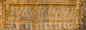 picture of zoroastrianism  - Royal tombs facade view of the carriers of the royal throne to his eternal resting place - JPG