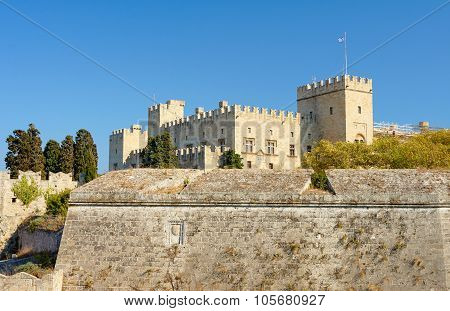 The medieval Castle of the Knights on the island of Rhodes, The medieval Castle of the Knights on the island of Rhodes