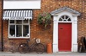 picture of olden days  - a traditional antique store in a country village in england - JPG