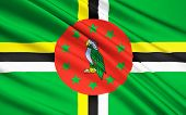 Постер, плакат: Flag Of Dominica Roseau