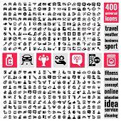 Постер, плакат: universal icons set