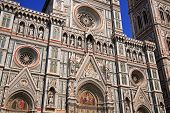 stock photo of tithe  - view of the beautiful duomo in florence italy - JPG