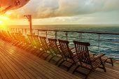 Постер, плакат: Cruise Ship Deck Chairs