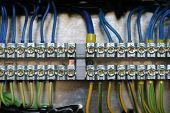 stock photo of busbar  - photo of wiring  - JPG