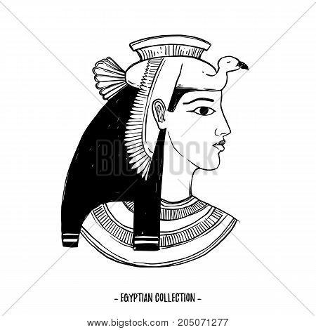 Hand Drawn Vector Illustration Egyptian