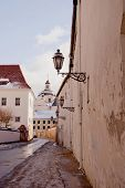 View Of Vilnius Oldtown Street. Lithuania.