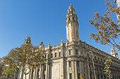 The Famous Central Post Office Building In The City Of Barcelona, Spain poster