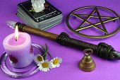 picture of pentacle  - tarot cards - JPG
