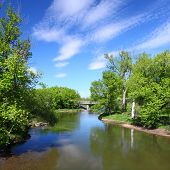 image of winnebago  - Beautiful view of the Kishwaukee River in northern Illinois - JPG