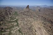 stock photo of superstition mountains  - Aerial view of Weaver - JPG