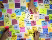 Sticky Note Post It Board Office poster