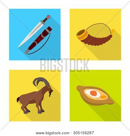poster of Vector Illustration Of Culture And Sightseeing Symbol. Set Of Culture And Originality Vector Icon Fo