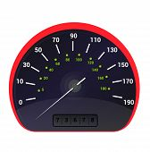 Speedometer Vector Car Speed Dashboard Panel And Speed-up Power Measurement Design Illustration Set  poster