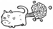 stock photo of farting  - farting cat cartoon - JPG
