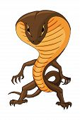 Vector Illustration With A Cobra Humanoid Creature. For Sticker, Poster, Print poster