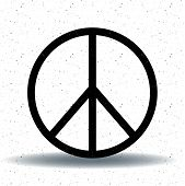 Peace, Friendship, Pacifism, Hippie Black Symbol Icon Vector Isolated On White Background. With Drop poster