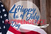 American Flag. Happy 4th Of July Independence Day.  National Holiday United States. poster