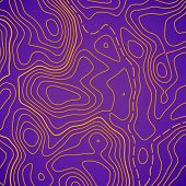 Creative Illustration Of Topographic Map. Art Design Contour Background. Abstract Concept Graphic El poster