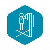 Scissor Lift Platform Icon. Outline Illustration Of Scissor Lift Platform Vector Icon For Web Design poster