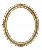 stock photo of oval  - Oval photo frame  - JPG