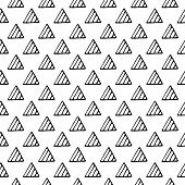 Abstract Geometric Triangle Pattern With Hand Drawn Triangles. Funny Vector Black And White Triangle poster