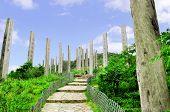 image of lantau island  - Wisdom Path on Lantau Island near Hong Kong - JPG