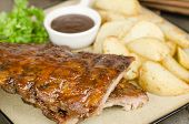 stock photo of baby back ribs  - BBQ Ribs  - JPG