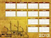 picture of masjid nabawi  - Islamic Calender 2013 - JPG
