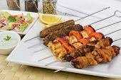 stock photo of kababs  - Kebabs  - JPG